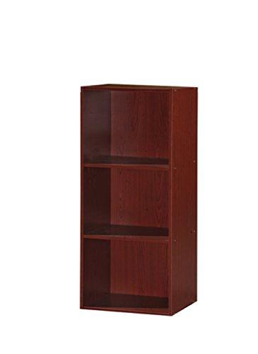 hodedah 3 Regal Bücherregal, Mahagoni: Amazon.de: Küche & Hausha