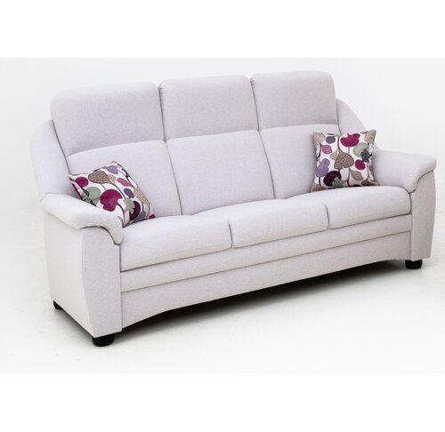 3-Sitzer Sofa Walters Ebern Designs Polsterfarbe: Panama - Beige .