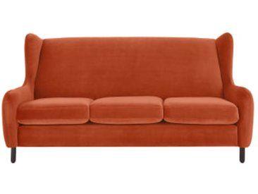 Rubens 3-Sitzer Sofa, Samt in Glutorange | Retro chic, Couch, Dec