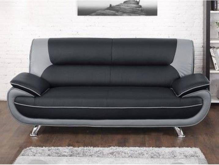 3-Sitzer-Sofa Nigel - Schwarz & Grau in 2020 | Sofa, Love seat, Cou