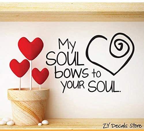 Yyoutop Meine Seele beugt Ihre Seele Zitate Wandtattoos Abnehmbare .