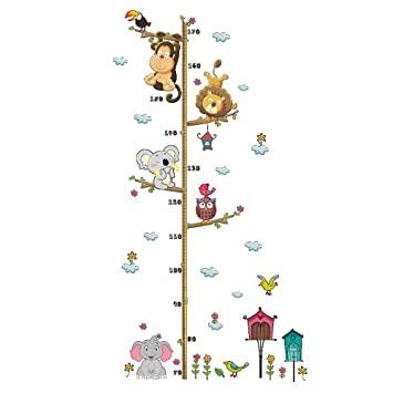 Sunsbell Tiere AFFE Elefant Baum Zweige Giraffe Messlatte Kinder .