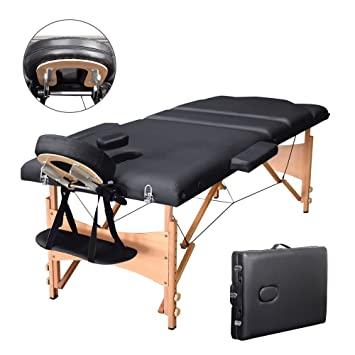 vesgantti 3 Abschnitte faltbar Massageliege, feuerfestes Massage .