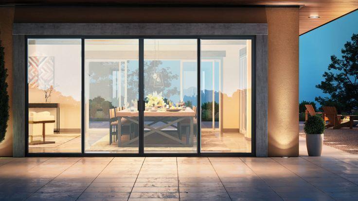 Modern Patio Doors in 2020 | Modern patio doors, Glass doors patio .