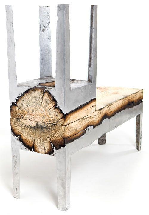 Wood Casting by Hilla Shamia | Wood, metal, Wood, Furniture maki