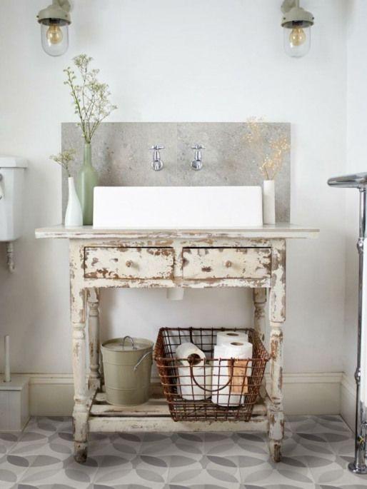 shabby chic kommode anrichte schublade waschtisch badezimmermöbel .