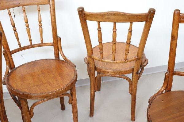 Antike Stühle aus Buche, 1880er, 4er Set bei Pamono kauf