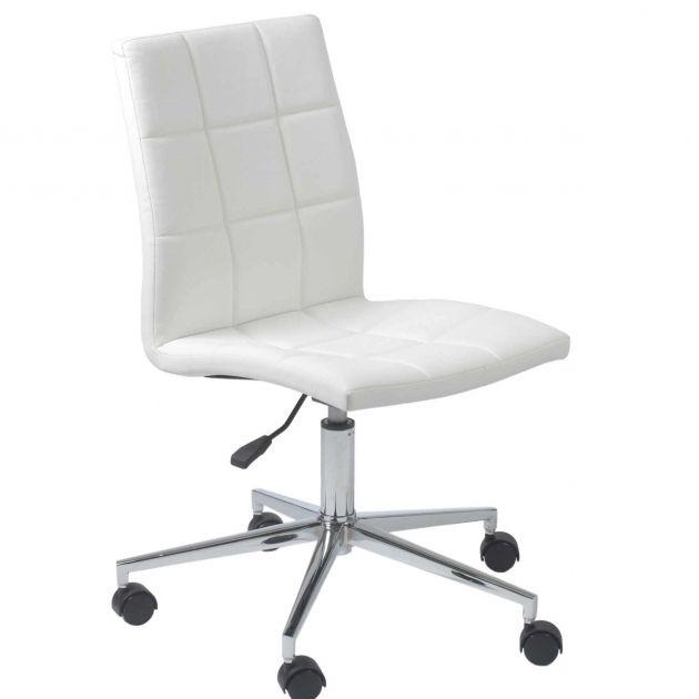 White Desk Chair With Wheels | Schreibtisch, Coole bürostühle und .