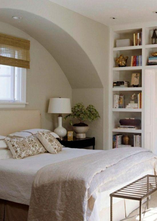Ausgeklügelte Aufbewahrungsideen im Schlafzimmer   Einbauregale .
