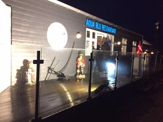Aussenbeleuchtung - Picture of AquaBlu Restaurant, Fredericia .