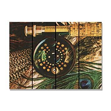 gizaun Art Fliegenrolle Innen/Außen Wand Kunst, Full Color auf .