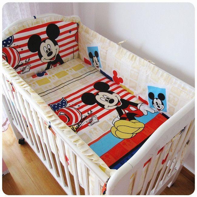 42.80 $ Mehr wissen - Promotion! 6 STÜCKE Mickey Mouse Babybett .