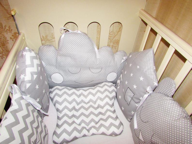 Stoßstange Kinderbett schlafen Babybett Nest Bettwäsche-Set .