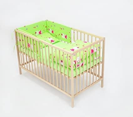 6-tlg. Baby-Bettwäsche-Set Decke 150x120 Bettzeug Bettbezug für .