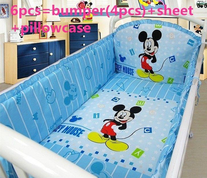 Beförderung! 6 STÜCKE Mickey Mouse Baby-Bett-Set Baby-Produkt .