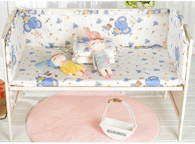 5 STÜCKE Cartoon Baby Bettwäsche Set multifunktionale Baby Safe .