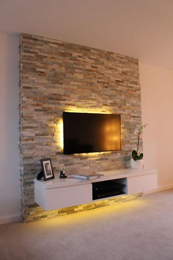 TV Backsplash Ideas   Tv wall decor, Modern tv wall, Feature wall .