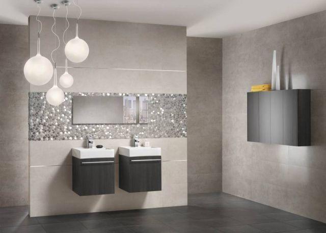 Bathroom tile: 57 trendy ideas for walls and floors   Grey .