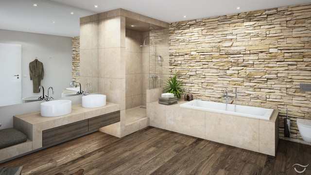 Badezimmer-Design RUSTICO - Rustic - Bathroom - Munich - by Bano