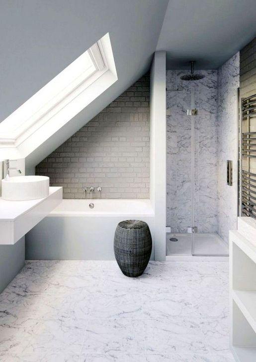 20 + einfache und kleine Dachboden Badezimmer Design-Ideen | Small .