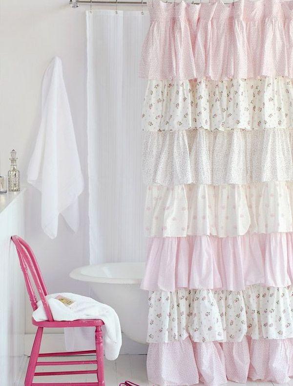 Ruffle Duschvorhang – ein Hauch von Romantik für Ihr Badezimmer .