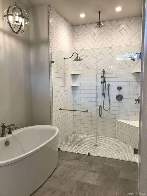 Modernes Bauernhaus Badezimmer für kleine Räume Ideen 64 .