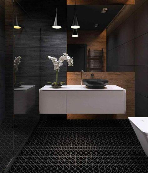 Innendekoration mit schwarzem Marmor: Kombinationen | Badezimmer .