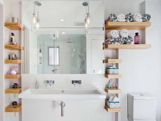 Stauraum kleines Badezimmer freistehende Regale Mehr | Einrichtung .