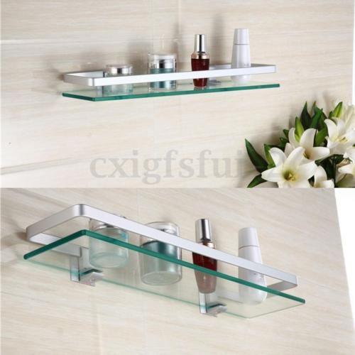 Glasregal-Glasboden-Klarglas-Wandregal-Badezimmer-Regal-Ablage .