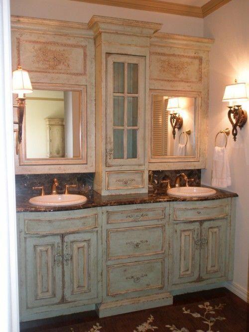 Idee, Badezimmer-Schränke zu erneuern – Ich liebe das .