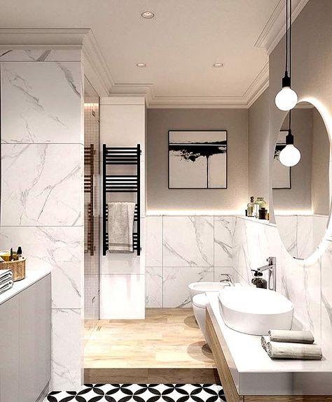 Sauber und einzigartig, Marmor gefüllte Luxus-Badezimmer in 2020 .