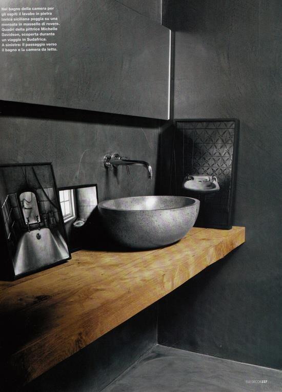 20 Awesome Concrete Bathroom Designs | Beton badezimmer .