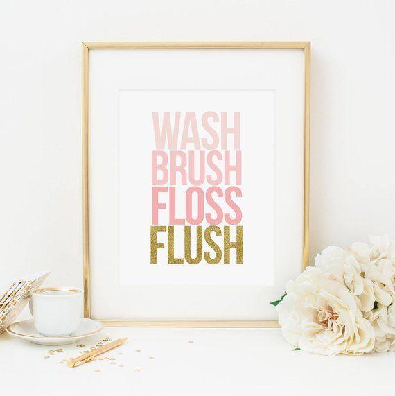 Badezimmer Regeln druckbare Waschbürste Zahnseide Flush Kinder .