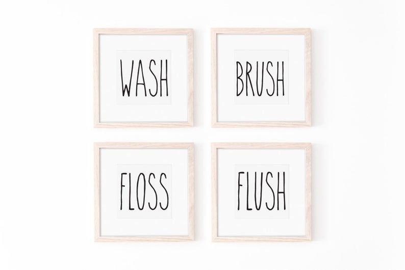 Druckbare Badezimmer Wandkunst, Instant Download, Waschmaschine .