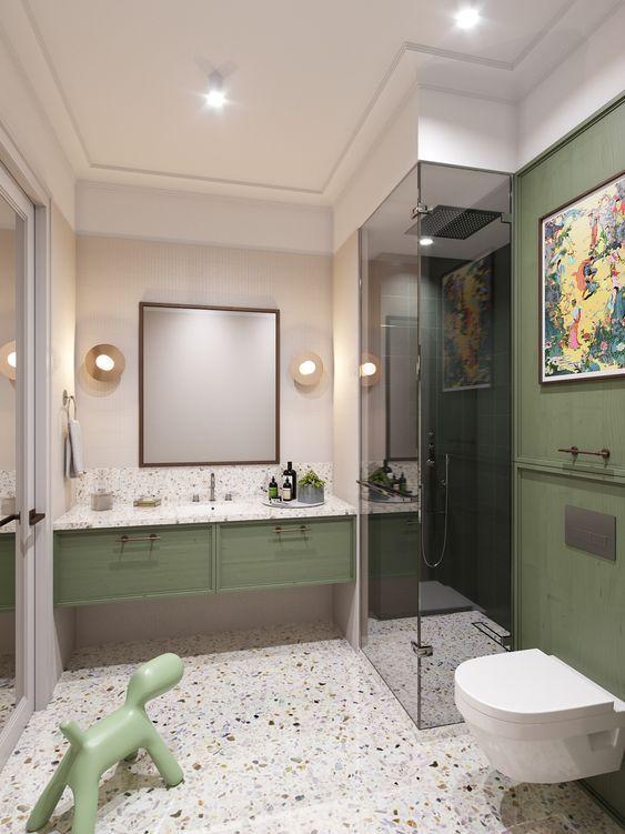 25 Ways To Incorporate Green Into Bathroom Decor | Badezimmer .