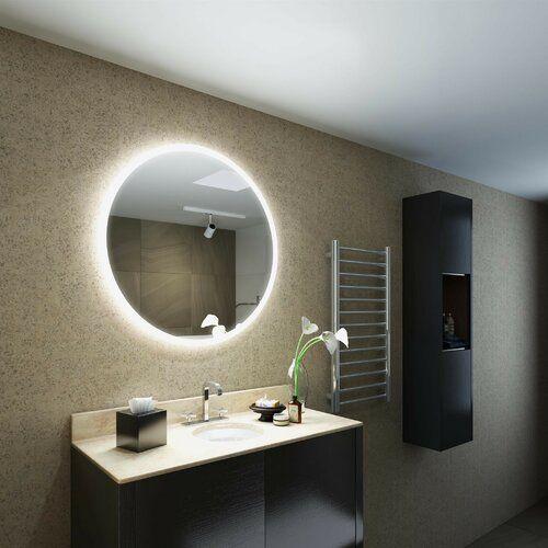 Badezimmerspiegel Saffron Perspections LED: Einfarbiges LED in .