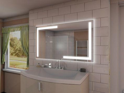 Origineller Badezimmerspiegel mit Licht » Individuelle Ausstattung .
