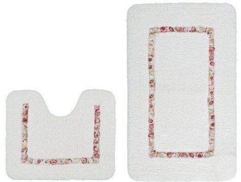 2-tlg. Badteppich-Set Emely in 2020 | Bath mat sets, Bath mat, Li