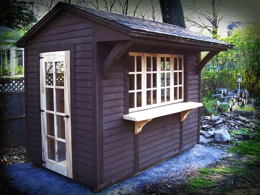 Backyard shed with exterior counter shelf. (With images) | Outdoor .