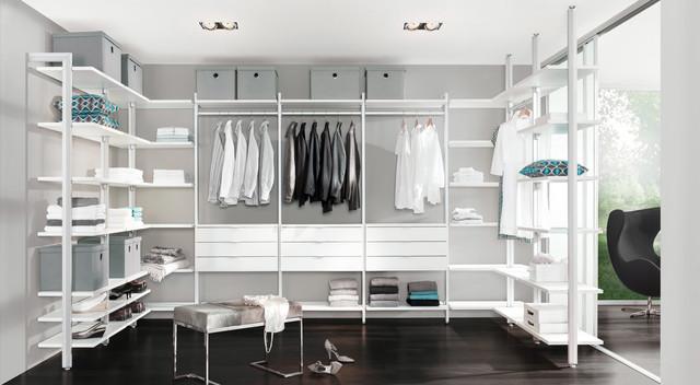 Begehbarer Kleiderschrank - Regalsystem Ankleidezimmer CLOS-IT .