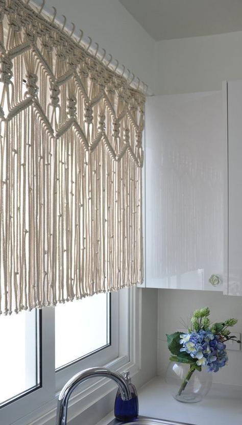 Makramee Küche Vorhang benutzerdefinierte kurze Makramee .