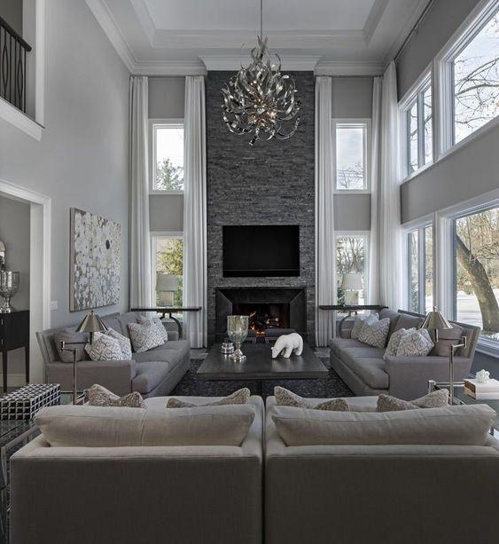 """Marmor"""" weißes Leinen benutzerdefinierte Vorhänge - Living Room ."""