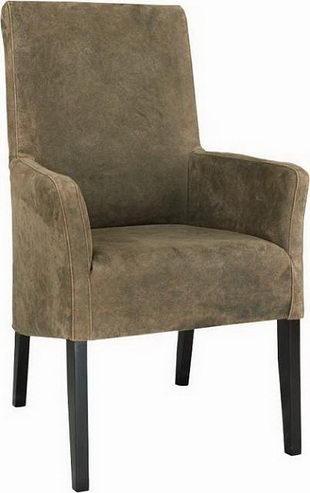 bequemer Stuhl mit Armlehnen - Weiße Stühle bei Möbelhaus Hambu