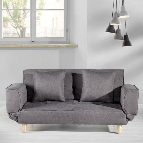 Bequemes Schlafsofa in Grau - stilvoll und bequem für Ihr Zuhause .