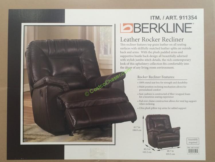 Berkline Leather Rocker Recliner – CostcoChas