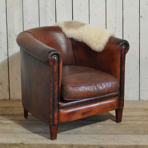 Ein Club Sessel Hochwertiges Leder Club Stühle Vintage Bugholz .