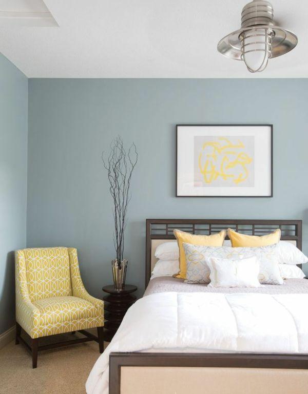 Schlafzimmer Farbideen für eine stimmungsvolle Atmosphäre | Gelbes .