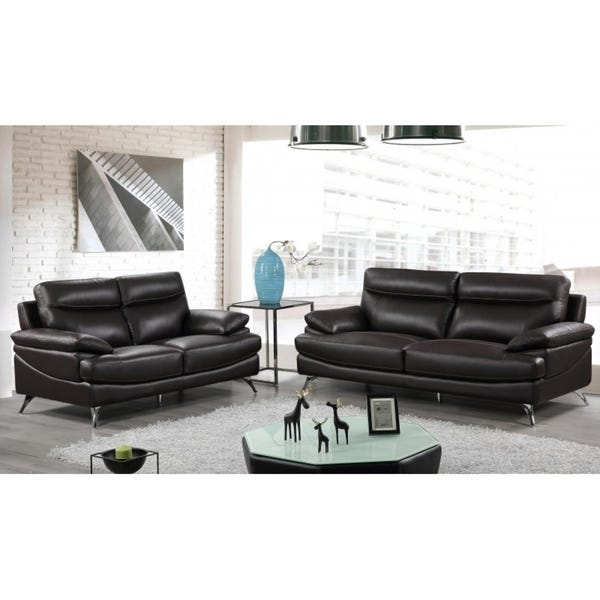 Shop Best Quality Furniture 2-piece Upholstered Leather Sofa and .