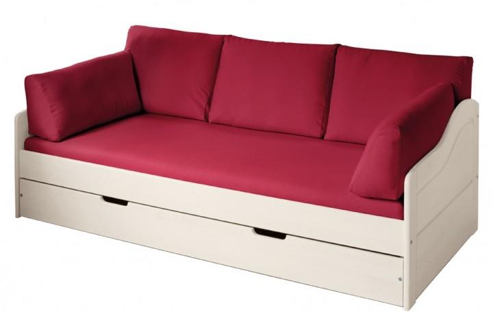 Livipur-Möbel SET Carla Naturweiß Sofa-Bett, rot | livipur - Echt .