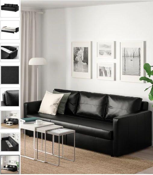 FRIHETEN 3er-Bettsofa, Bomstad schwarz, #bettsofa #bettsofas #sofa .